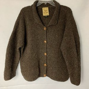 Woolrich Cardigan Sweater With Wooden Buttons.
